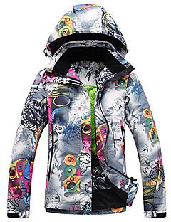 billiga Skid- och snowboardkläder-GQY® Dam Skidjacka Vindtät, Vattentät, Håller värmen Skidåkning / Vintersport Polyester Vinterjacka Skidkläder