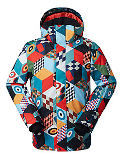 GSOU SNOW® スキーウェア スキー/スノーボードジャケット 男性用 冬物ウェア ポリエステル 冬物ウェア 防水 / 高通気性 / 保温 / 防風 / 抗紫外線 / 耐久性 スケーティング / スノースポーツ / ダウンヒル / スノーボード 冬