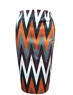Dámské Bodycon Proužky Sukně-Retro Běžné/Denní-Nad kolena High Rise Zip Poliester Není elastické podzim