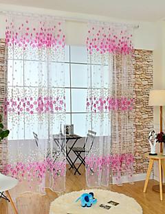 Et panel Window Treatment Moderne , Blomsternål i krystall Barnerom Poly/ Bomull Blanding Materiale Gardiner Skygge Hjem Dekor For Vindu