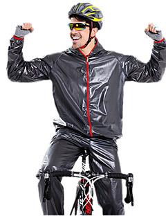 billige Sett med sykkeltrøyer og shorts/bukser-Langermet Sykkeljakke med bukser - Hvit Svart Grønn Blå Sykkel Klessett, Vanntett, Vår Sommer