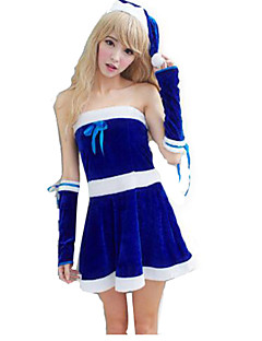 Female Christmas Festival / Holiday Halloween Costumes Solid
