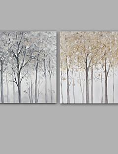 tanie Pejzaże abstrakcyjne-Ręcznie malowane Krajobraz Kwadrat, Klasyczny Nowoczesny Brezentowy Hang-Malowane obraz olejny Dekoracja domowa Jeden panel