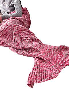 Havfruehale Eventyr Barn Halloween Jul Nytt År Festival / høytid Halloween-kostymer Rød Blå Lilla Rose Jacquardvevnad