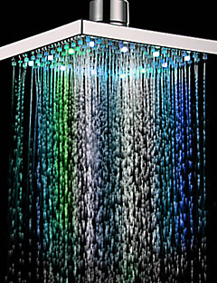 Contemporary Rain Shower Chrome Feature-Rainfall Eco-friendly LED , Shower Head
