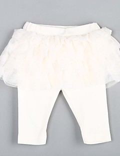 Baby Casual/Daily Solid Pants,Cotton Spring / Fall White