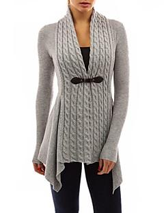 tanie Swetry damskie-Damskie Dekolt w kształcie litery U Luźna Długi Rozpinany Jendolity kolor Długi rękaw