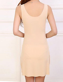Χαμηλού Κόστους Φορέματα Μεγάλα Μεγέθη-Γυναικεία Απλός Εφαρμοστό Φόρεμα - Μονόχρωμο Πάνω από το Γόνατο Λαιμόκοψη V