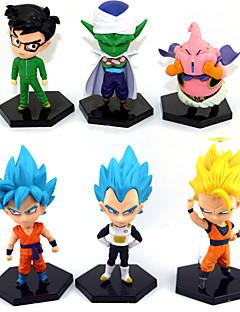billige Anime cosplay-Anime Action Figurer Inspirert av Dragon Ball Goku Anime Cosplay-tilbehør figur PVC Halloween-kostymer