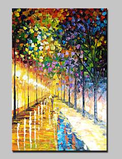 tanie Pejzaże abstrakcyjne-Ręcznie malowane Krajobraz Pionowy, Nowoczesny Brezentowy Hang-Malowane obraz olejny Dekoracja domowa Jeden panel