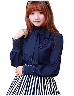 Blouse/Shirt Sweet Lolita Dress White Black Blue Red Lolita Accessories Blouse Spandex Polyester