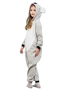 Kigurumi Pyjamas Koala Kokopuku Yöpuvut Asu Polar Fleece Harmaa Cosplay varten Lapset Animal Sleepwear Sarjakuva Halloween Festivaali /