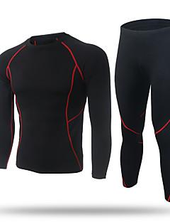 billige Løbetøj-XINTOWN Herre Grundlag T-Shirt / Kompressionstøj / Tights - Sport Træning & Fitness, Fritidssport, Cykling / Cykel Langærmet Hold Varm,