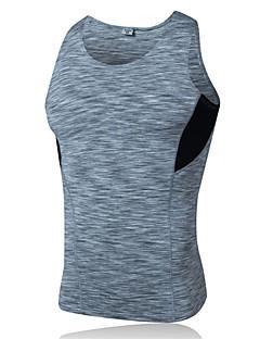baratos Camisetas para Trilhas-Homens Camiseta de Trilha Ao ar livre Inverno Secagem Rápida Vestível Respirável Confortável Roupas de Compressão Blusas Ioga Exercício e