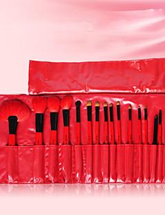 18 Conjuntos de pincel Escova de Cabelo Mink / Escova Doninha / Escova de Cerdas / Escova de Cabelo de CabraProfissional / Cobertura