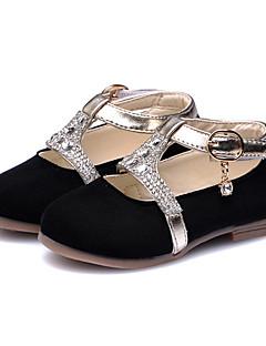 お買い得  フラワーガールシューズ-女の子 靴 フリース 春夏 コンフォートシューズ フラット スパークリンググリッター / コンビ / かぎホック のために ブラック / パーティー