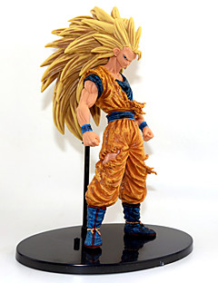 Anime Action Figurer Inspirert av Dragon Ball Goku Anime Cosplay-tilbehør figur Gull PVC