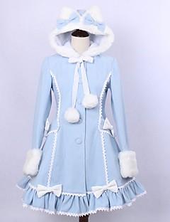 cheap Lolita Dresses-Winter Sweet Lolita Coat Princess Lace Women's Coat Cosplay Long Sleeves Medium Length