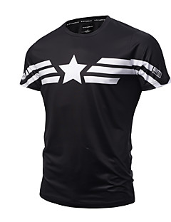 hesapli Grafik Tişörtler-Erkek Pamuklu Yuvarlak Yaka İnce - Tişört Desen Actif Punk ve Gotik Spor