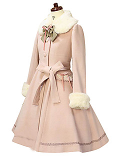 Winter Sweet Lolita Coat Princess Lace Women's Coat Cosplay Long Sleeves