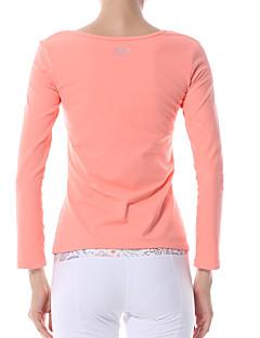 billige Løbetøj-Yokaland Dame Løbe-T-shirt - Rød, Blå Sport Toppe Yoga, Pilates, Træning & Fitness Langærmet Hurtigtørrende, Åndbart, Reducerer gnavesår