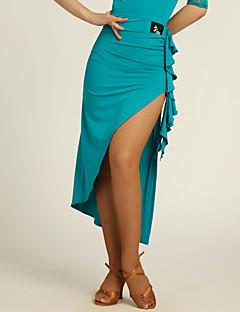 baratos Roupas de Dança Latina-Dança Latina Tutos e Saias Mulheres Treino Viscose Pregueado Natural Saia