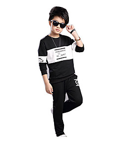 Boy Casual/Daily Print Sets,Cotton Rayon Spring Long Sleeve Clothing Set