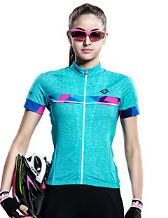 cheap Cycling Clothing-SANTIC Women's Short Sleeve Cycling Jersey Bike Jersey, Quick Dry, Ultraviolet Resistant, Breathable