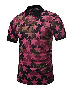 billige Herremote og klær-Skjortekrage Polo Trykt mønster Aktiv Herre