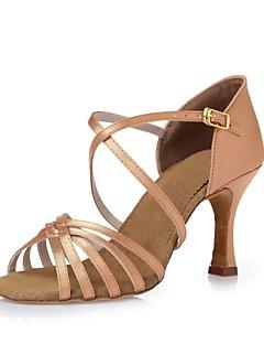hesapli -Kadın's Latince Dans Sneakerları Modern Swing Dans Ayakkabıları Samba Salsa İpek Topuklular Profesyonel Yeni Başlayan Egzersiz Kurdele