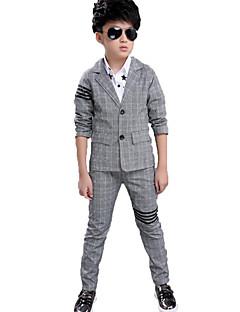 男の子 カジュアル/普段着 フォーマル パーティー チェック コットン セット 春 秋 長袖 アンサンブル
