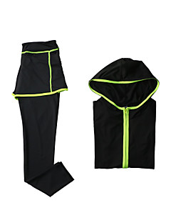 billige Løbetøj-Dame Træningsdragt Sport Modal Hattetrøje / Bukser / Toppe Yoga, Træning & Fitness, Løb Langærmet Sportstøj Åndbart, Hurtigtørrende Høj Elasticitet