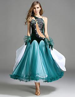 Dans de Societate Rochii Pentru femei Performanță Tulle Catifea Manșetă Dantelă Fără mâneci Natural Rochie Mănuși
