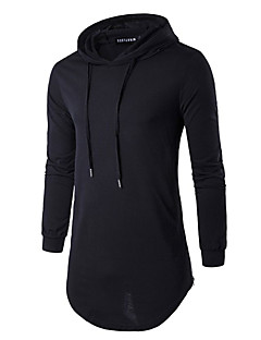 cheap Hoodies & Sweaters-Men's Sports Weekend Slim Long Hoodie - Solid Hooded