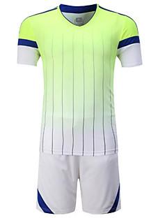 Homme Football Ensemble de Vêtements/Tenus Respirable Confortable Eté Mosaïque Térylène Football Orange Vert Bleu Rose