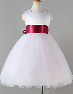 hesapli -Prenses Taşlı Yaka Diz Altı Polyester Tül Kurdeleler ile Çiçekçi Kız Elbisesi tarafından YDN