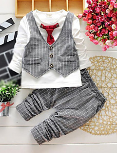 Boy's Cotton Super Spring / Fall Long Sleeve  Simulation II  Suit Blouse  Pants Twinset