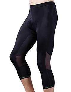 cheji® 3/4 sykkeltights Sykkel Bunner Herre Fort Tørring Pustende Komprimering Bekvem Polyester Elastan Klassisk Trening & Fitness