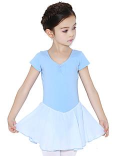 Balet Šaty Dětské Trénink Bavlna Volánky Jeden díl Krátké rukávy Přírodní Šaty 48,50,51,53,55,57