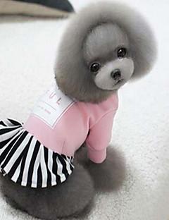 billiga Hundkläder-Hund Kappor Hundkläder Enfärgad Svart / Röd / Rosa Silkesmaterial / Cotton Kostym För husdjur Herr / Dam Sport