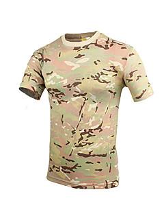 tanie Odzież myśliwska-Uniseks T-shirt Łowiectwo Oddychający Zdatny do noszenia Lato Kamuflaż