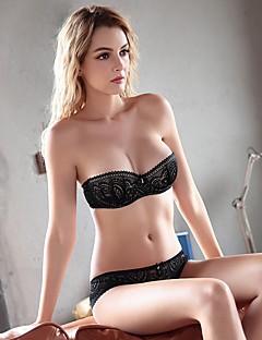 YUIYE® Demi-cup Bras & Panties SetsDouble Strap Adjustable Push-up Lace Bras Underwire Bra Fixed Straps Cotton Lace Nylon