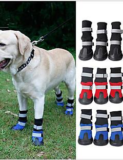 저렴한 -고양이 강아지 신발 & 부츠 방수 컬러 블럭 블랙 레드 블루 애완 동물