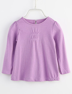 Baby Daily Solid Blouse-Cotton-Spring Fall-Long Sleeves Purple