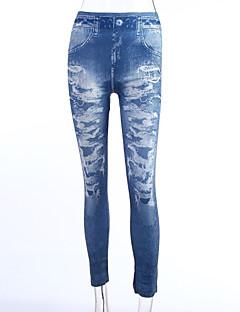 tanie Getry-Damskie Weekend Jeans Legging - Kwiaty Średni Talia / Obcisłe