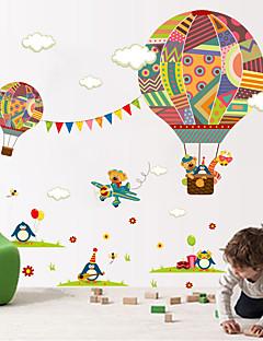 Animales De moda Formas Pegatinas de pared Calcomanías de Aviones para Pared Calcomanías Decorativas de Pared,Vinilo MaterialDecoración