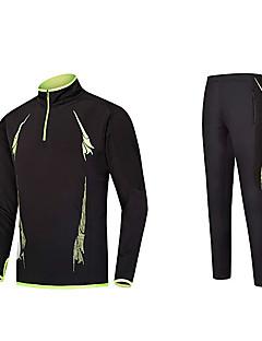 billige Løbetøj-Herre Løbe-T-shirt Langærmet Bekvem Træningsdragt for Taekwondo / Fiskeri / Træning & Fitness Polyester Sort / Grøn / Rød+Sort / Sort /