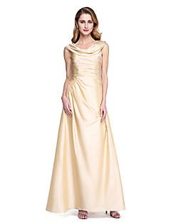 A-Linie Spadlý nabíraný výstřih Na zem Taft Šaty pro matku nevěsty - Sklady podle LAN TING BRIDE®
