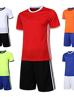 Crianças Futebol Conjuntos de Roupas Secagem Rápida Respirável Confortável Primavera Verão Inverno Outono Sólido Poliéster Esportes
