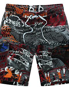 billige Herrebukser-Herre Aktiv Boheme Plusstørrelser Bomuld Løstsiddende Shorts Bukser - Trykt mønster